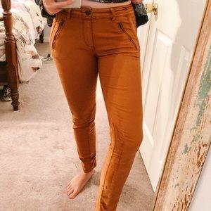 Anthropologie mustard pants